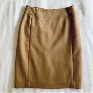 LOFT Beige Pencil Skirt